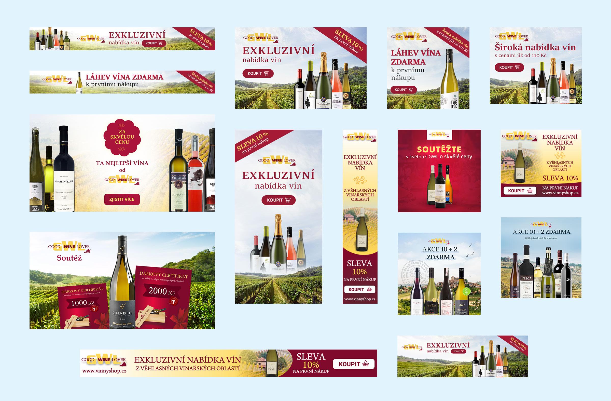 GWL Vinný shop - bannerová reklama